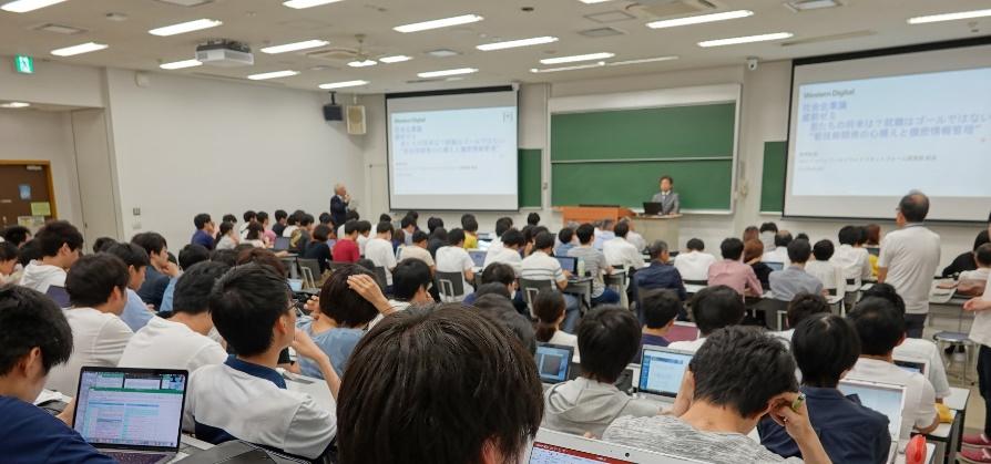 青柳さんによる講演 2019年6月 於:東京工業大学 すずかけ台キャンパス